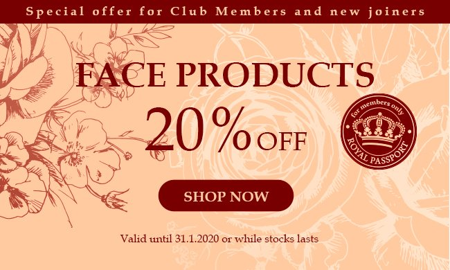 20% Face Products RP: