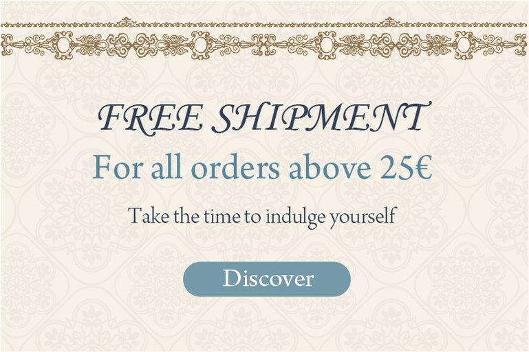 Free Shipment +25€: Free Shipment +25€