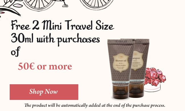 Free Mini Travel sizes: Free Mini Travel sizes