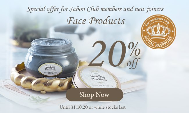 20% Face Products RP: 20% Face Products RP