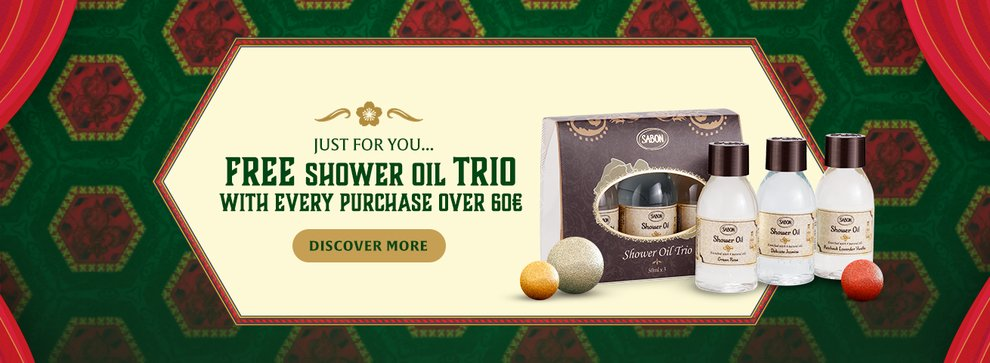 Free Shower Oil Trio: Free Shower Oil Trio for purchases over 60€