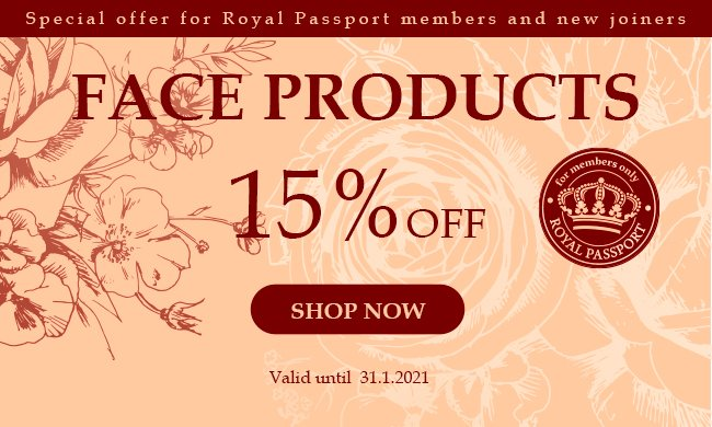 15% Face Products: 15% Face Products