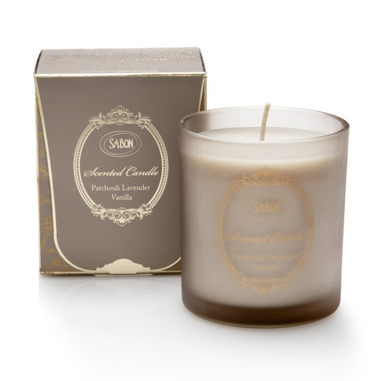 Candles in glass Patchouli - Lavender - Vanilla