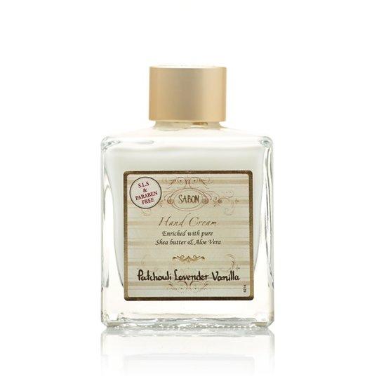 Hand Cream - Square Bottle Patchouli - Lavender - Vanilla