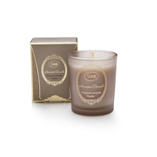 Small scented candle Patchouli-Lavender-Vanilla