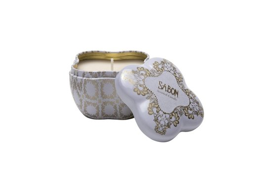 Candle in a Flower Tin Box - Tuberose