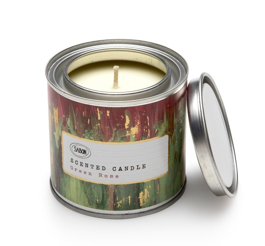 Candle in a Paint Tin