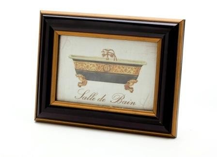 Cuadro Decorativo Bañera Negra