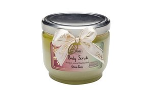 Shower Oil Body Scrub Green Rose